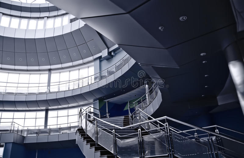 Staircase and balconies royalty free stock image