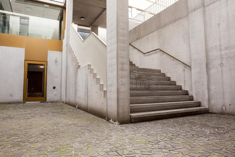 Staircase in city stock photography