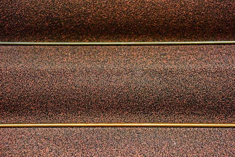 Staircase with expensive carpeting is close stock images