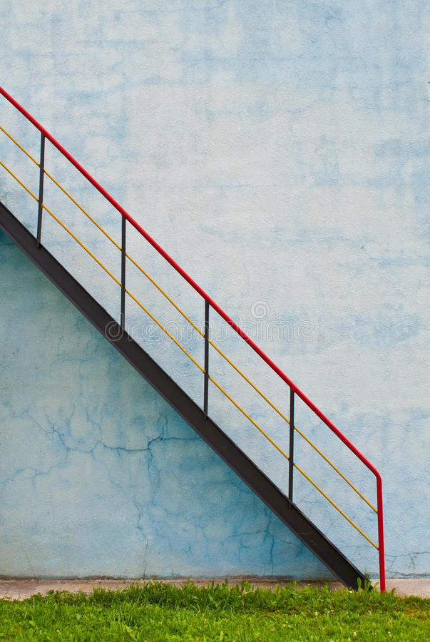 Staircase with handrails royalty free stock photo