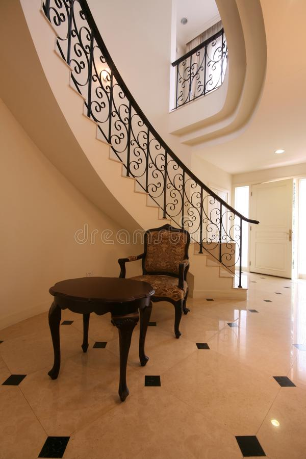 Staircase in a historic building stock photography
