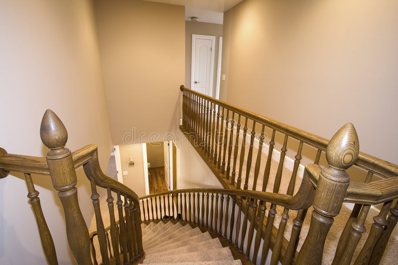 Staircase in a House stock photography