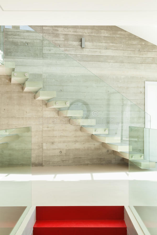 Staircase. House, interior, modern architecture, staircase view royalty free stock images