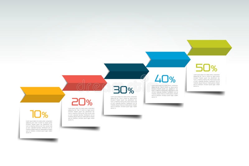 Staircase infographics, arrow template. royalty free illustration