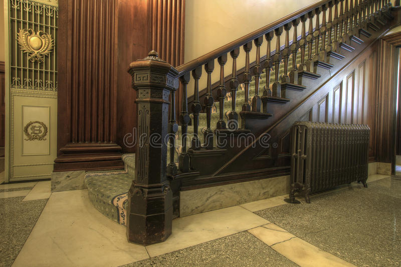 Staircase Inside Historic Courthouse Stock Photography