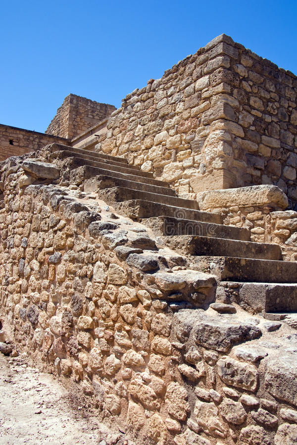 Staircase at Knossos Palace. Crete, Greece royalty free stock photos