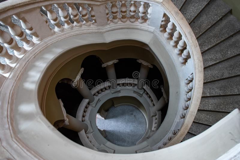 A staircase in the Kraków cloth hall. royalty free stock photography