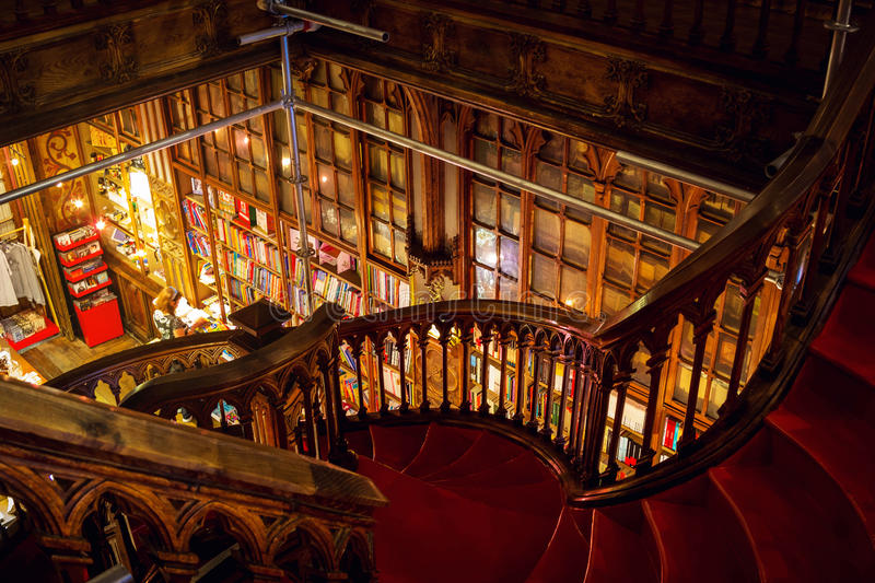 Download Staircase At The Lello And Irmao Bookstore In Porto Editorial Image - Image: 83723645