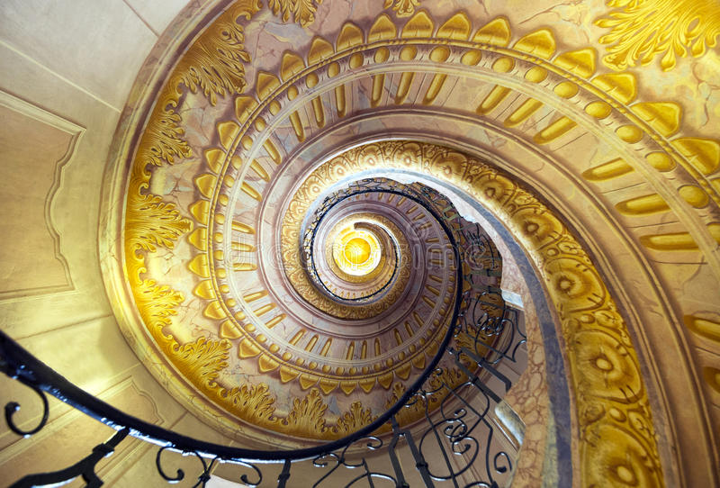 Staircase between the library and church in Melk Abbey royalty free stock images