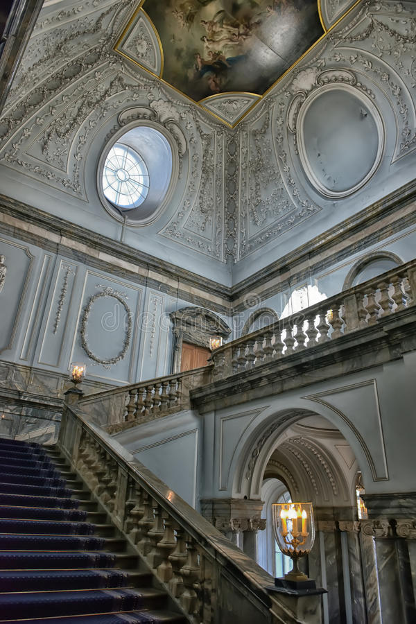 Staircase Marble Palace. St. Petersburg, Russia royalty free stock photos