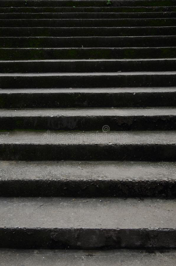 Staircase that grows moss with old and classic background part 3 stock photography