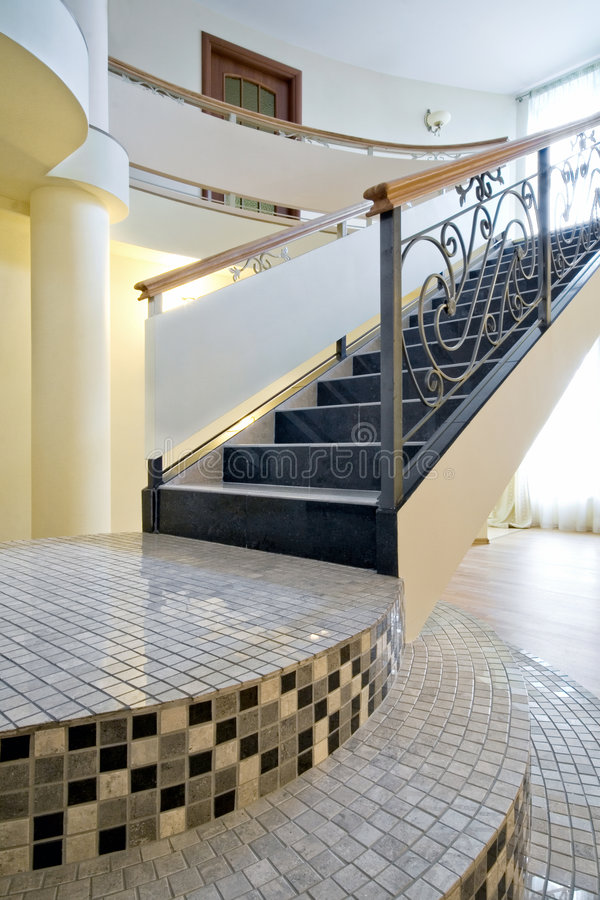 Staircase in a new interior royalty free stock photos