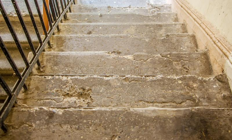 Stairs of the old house royalty free stock images