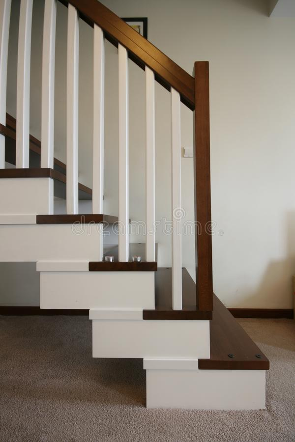 Staircase in a penthouse royalty free stock photos