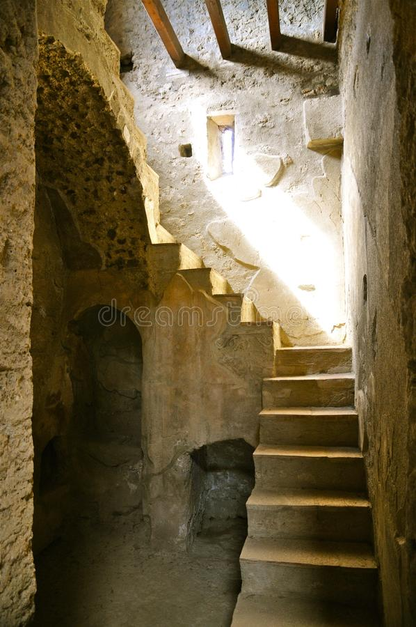 Staircase in Pompeii, Italy stock images