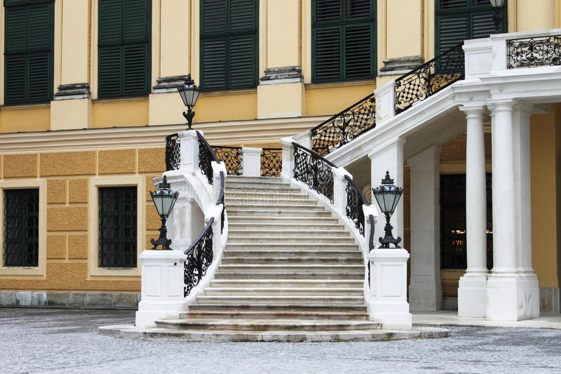 Staircase of Schonbrunn castle royalty free stock photos