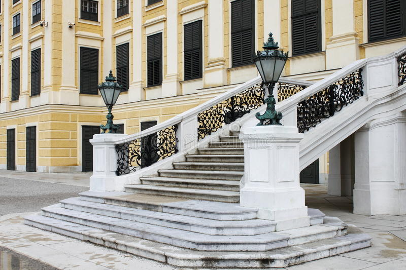 Staircase of Schonbrunn castle royalty free stock images