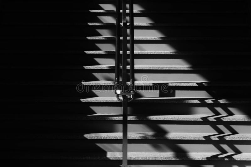 Staircase and shadow in the city. royalty free stock photos