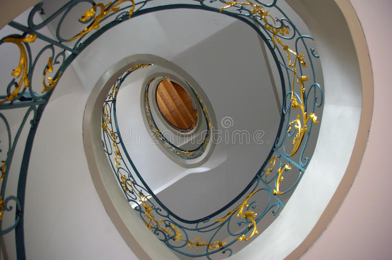 Staircase in spiral art nouveau.