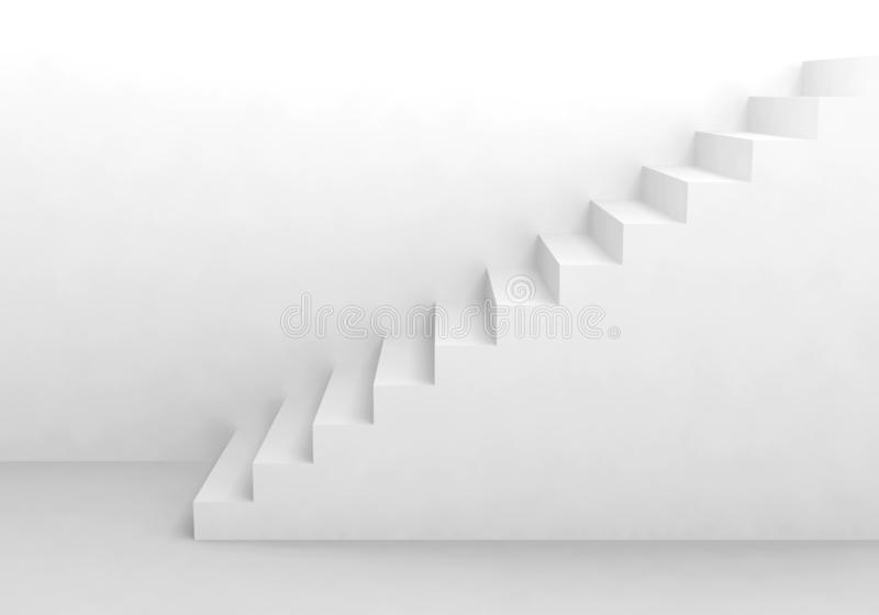 Staircase stairway architecture modern design interior white up royalty free stock photos