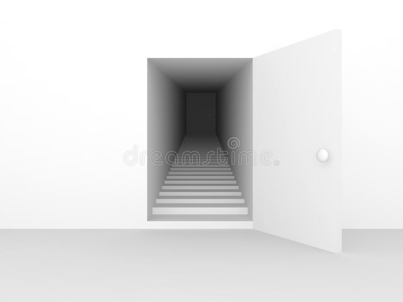 Download Staircase step and door stock illustration. Illustration of corridor - 18928864