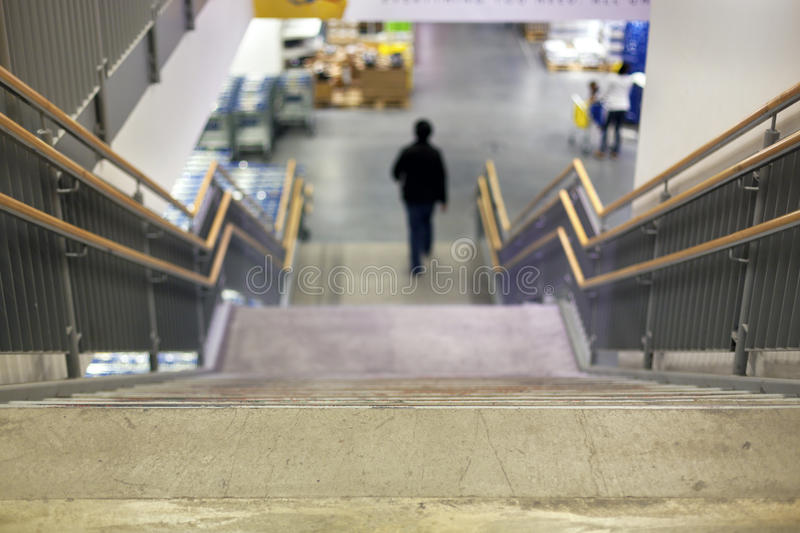 Staircase at the store royalty free stock photography
