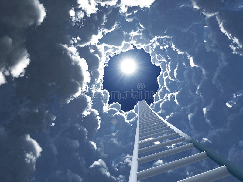 Download Staircase to heaven stock illustration. Illustration of funnel - 16580700