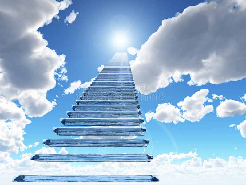 Download Staircase to heaven stock illustration. Image of godly - 8220078