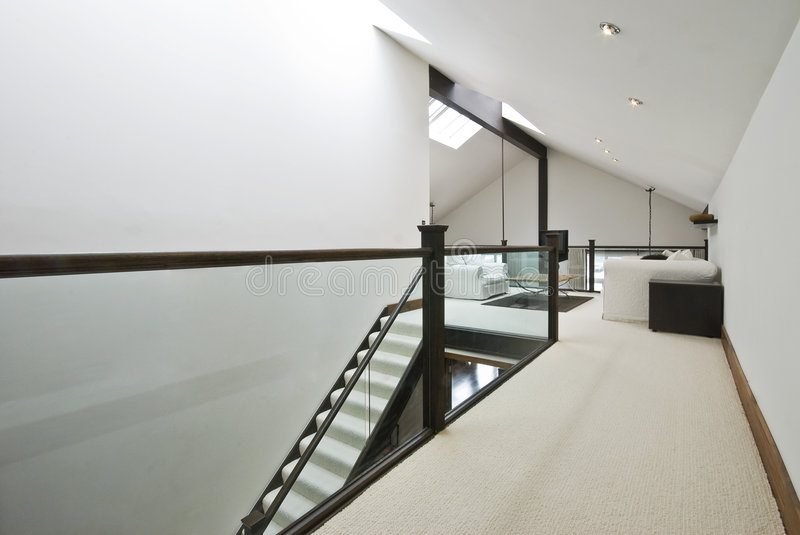 Download Staircase to loft room stock image. Image of glass, luxury - 9287925