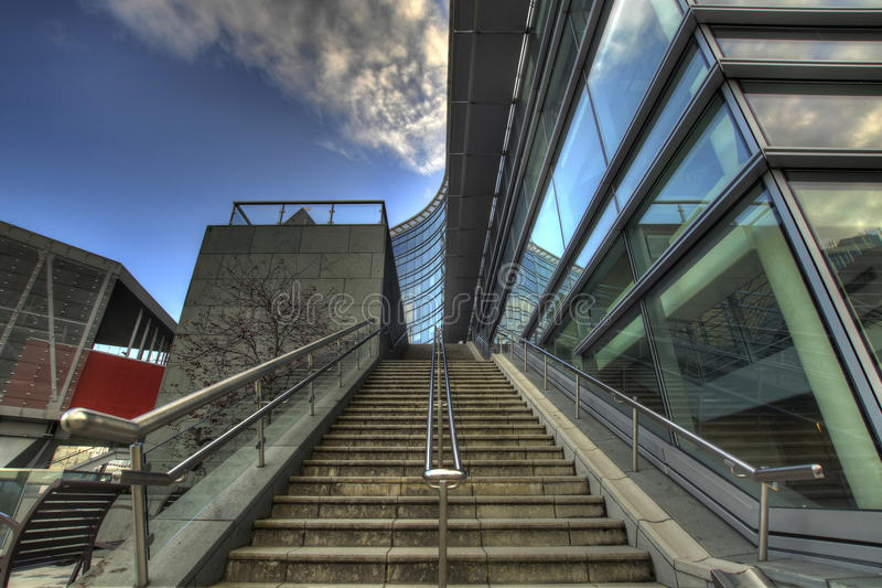 Staircase to Portland Aerial Tram stock image