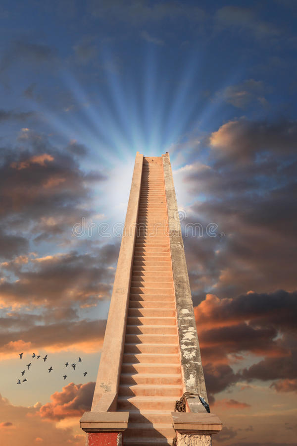 Staircase to Success / Reach the Top Concept royalty free stock photos