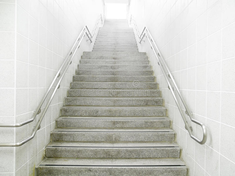 Staircase in underground stock images