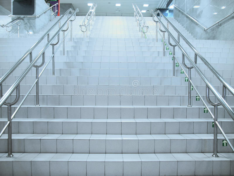 Staircase in underground passage royalty free stock photography