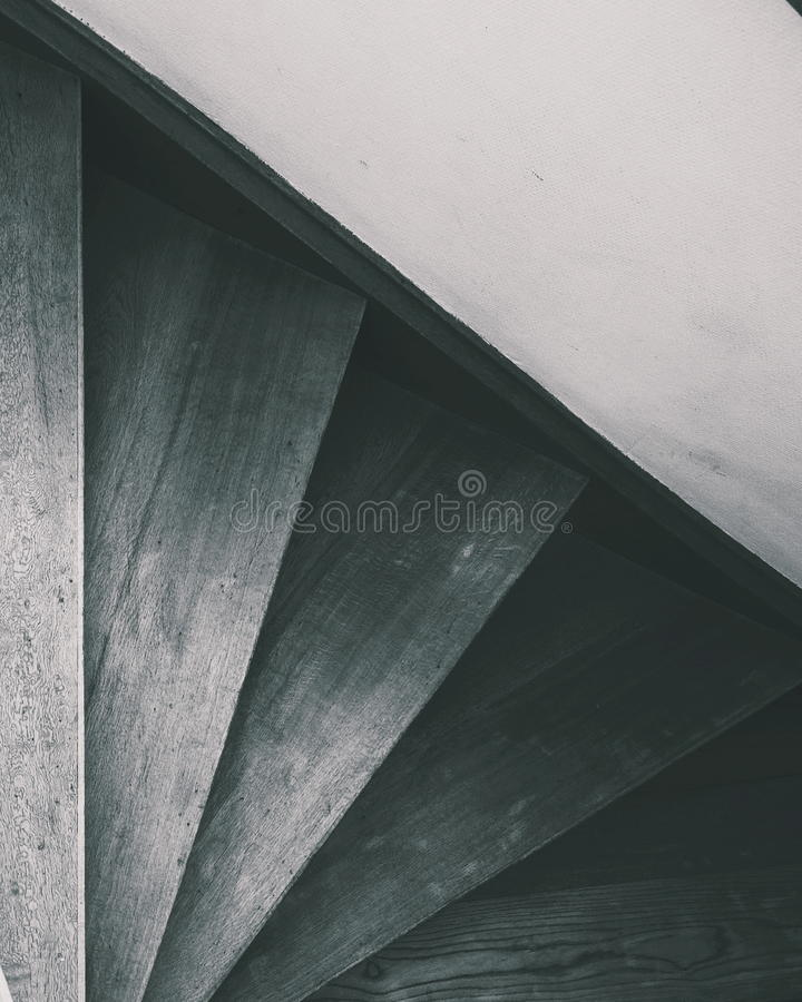 Staircases in black and white royalty free stock image