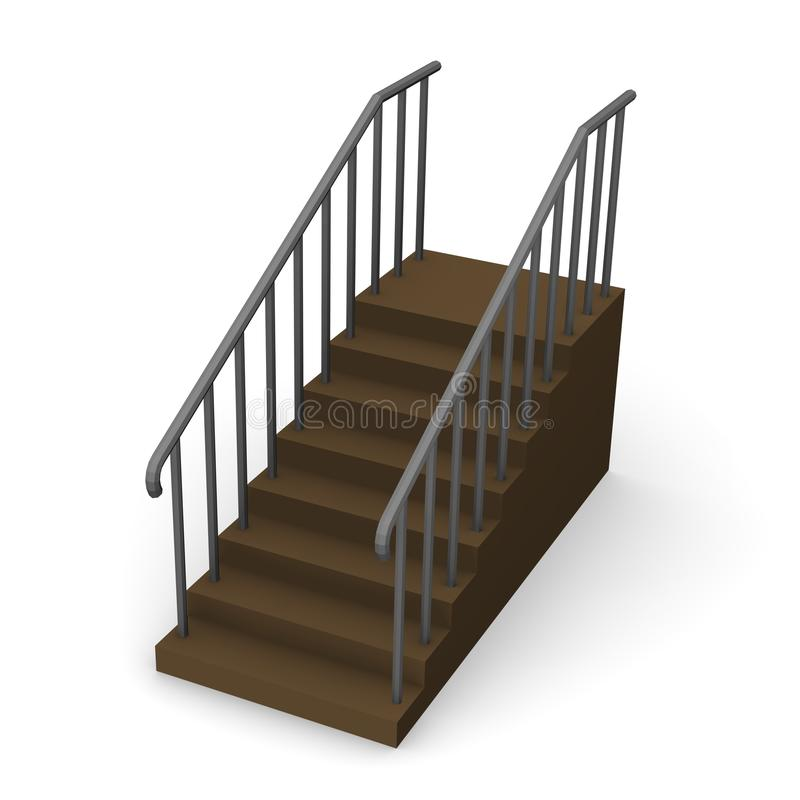 Stairs stock illustration