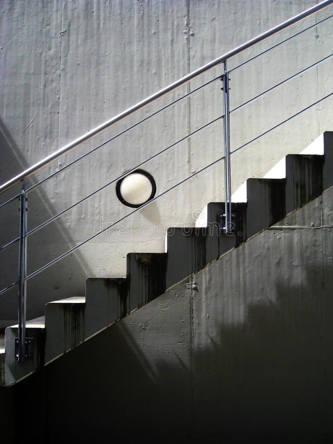 Stairs. In black and white royalty free stock photo