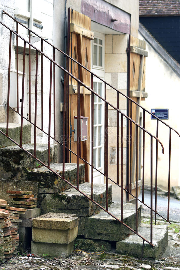Stairs. In a village in France stock photos