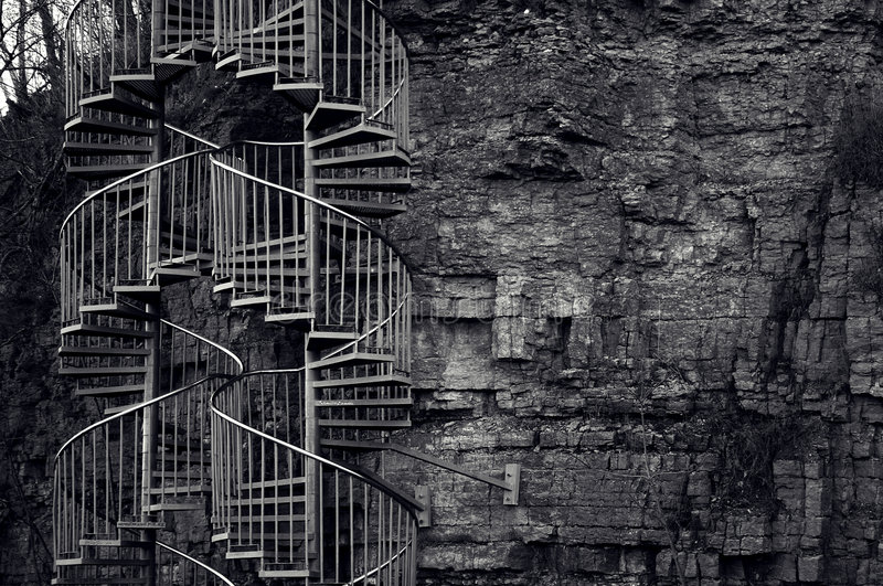 Download Stairs stock image. Image of steel, autumn, stone, wall - 311711