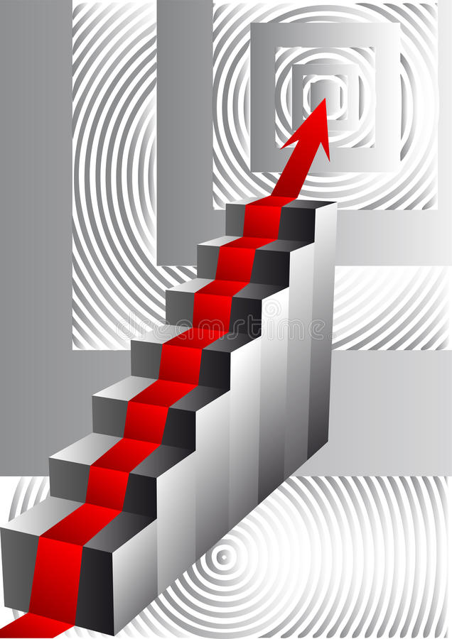 Download Stairs With An Arrow Stock Photo - Image: 28798030