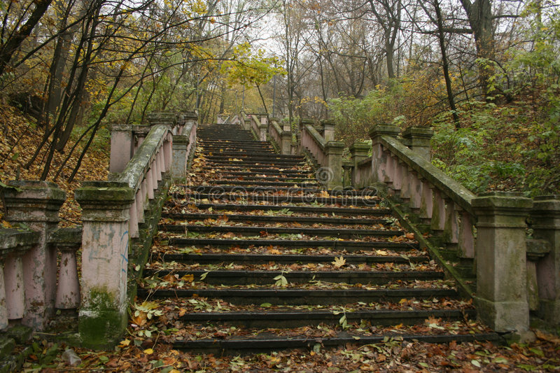 Stairs In Autumn Royalty Free Stock Photography