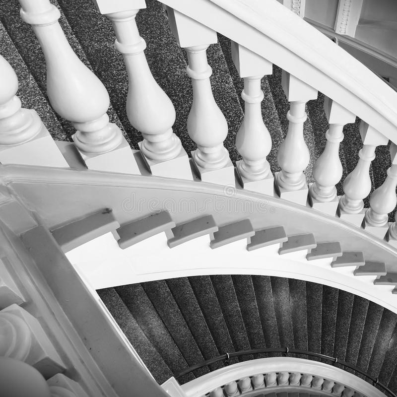 Stairs with balusters stock photos