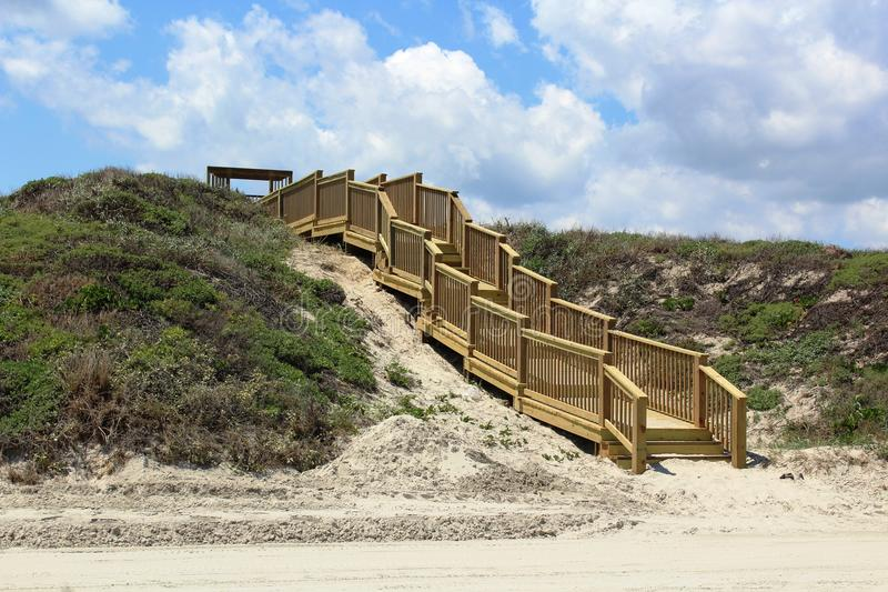 Stairs at Beach Port Aransas Texas stock images