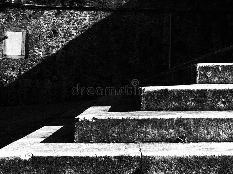 Stairs in black and white royalty free stock images