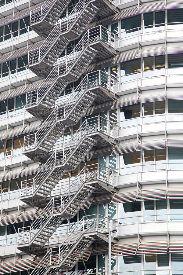 Stairs on the building in Amsterdam, Netherlands royalty free stock photos