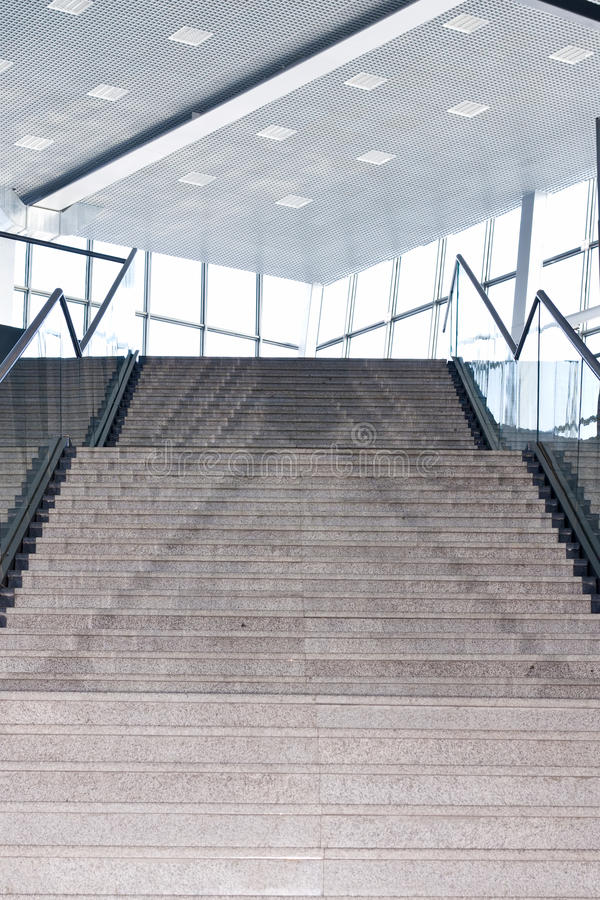 Stairs in the business center, up to the light