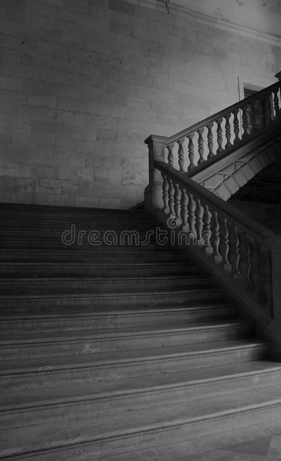 Stairs of Carlos V Palace royalty free stock photo