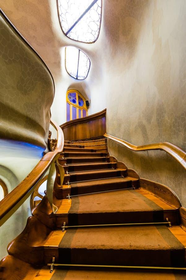 Stairs of Casa Batllo. Barcelona, Spain royalty free stock photography
