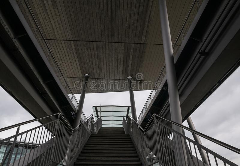 The stairs in a city Wolfsburg, Germany.  stock image