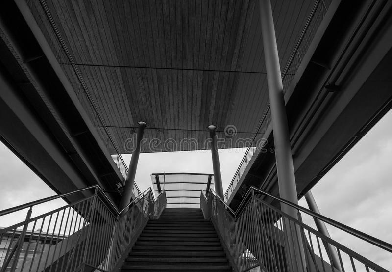 The stairs in a city Wolfsburg, Germany.  royalty free stock photo