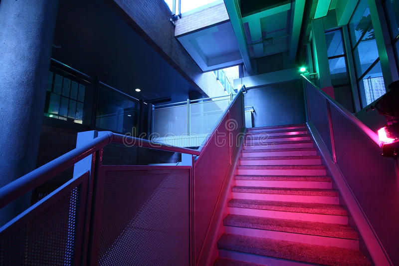 Download Stairs With Colorful Lighting Stock Image - Image: 16372441